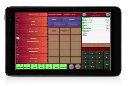 Tablet Kasse PosBill Metro Design