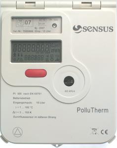 Der neue PolluTherm von Sensus mit komplett überarbeitetem Außengehäuse, moderner Firmware und komfortablen LC-Display.