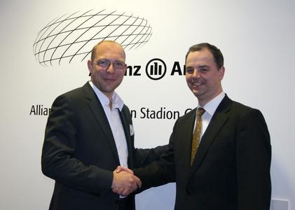 Herr Muth (Allianz Arena München Stadion GmbH) und Herr Leibhard (BTD)