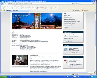 Bewegte Außenwerbung auf www.wall.de