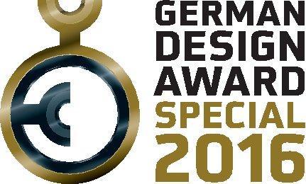 """Für die besondere Designqualität des Messestands von der BAU 2015 erhält Schüco den German Design Award 2016 in der Auszeichnung """"Special Mention"""" / Bildnachweis: Schüco International KG"""