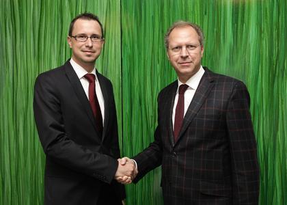 Executive Vice President Christian Grabner and CEO Eduard Wünscher