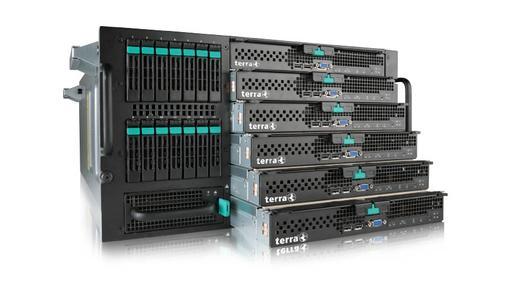 Frontansicht terra Modular Server
