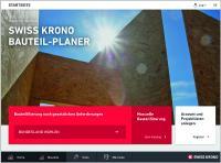 Screenshot der Startseite des SWISS KRONO BAUTEIL-PLANER