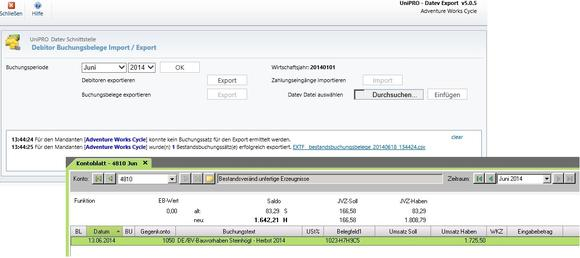 Export der DATEV-Buchungssätze über Microsoft Dynamics CRM