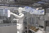 Neue CP1240 in einer Datenbrille beim Einsatz in einer Smart Factory, Foto: VARTA Microbattery GmbH