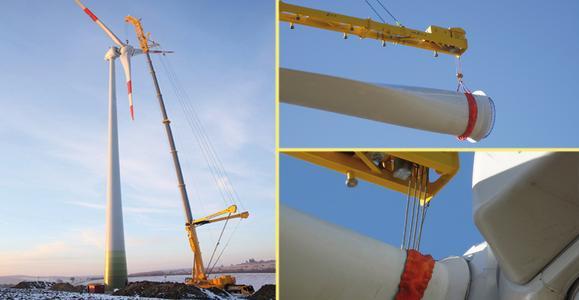 Windenergie im Aufwind : Einsatz von Hebeeinrichtungen bei Windenergieanlagen