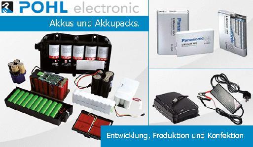 Entwicklung, Produktion und individuelle Konfektion von Akkus und Akkupacks sowie passendes Zubehör wie Ladegeräte.