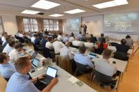 Representatives from 14 start-ups from four countries present their business ideas to Schaeffler specialists and representatives from top management at the Venture Forum 2018 (Photo: Schaeffler)