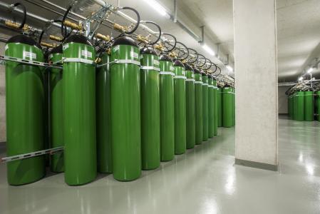 Die Stickstoff-Löschanlage im neuen Rechenzentrum verhindert Brände, Bildquelle: noris network