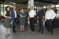 Kirsten Jahn, Dr. Ulrich Ziegenhagen (Wirtschaftsförderung Bonn), Katja Dörner, Stefan Barth, Boris Esser, Stefan Hagen (von links)