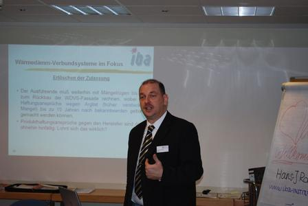 EnEV 2009, Brandschutz, Aufdoppelung: Hans-Joachim Rolof referierte zu Topaktuellen Themen