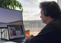 Bernd Krebs, Aufsichtsratsvorsitzender und Gründer von Toolcraft, bei der virtuellen Übertragung