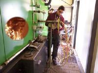 Räumlich aufgelöste Strahlungsmessung im Feuerraum durch den Einsatz einer wassergekühlten Messlanze des LEAT, Quelle: Fraunhofer UMSICHT, RUB-LEAT