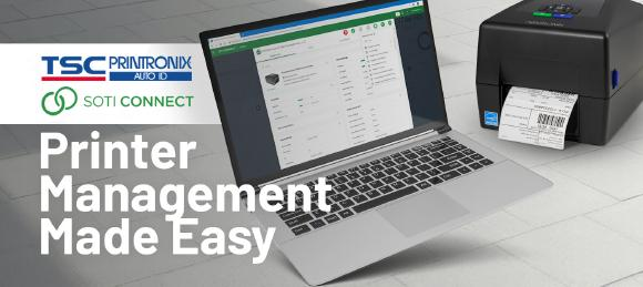 SOTI Connect enables TSC and Printronix Auto ID users to manage and maintain a fleet of barcode printers from a central dashboard