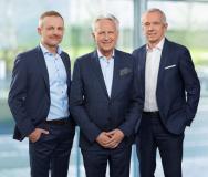 Vorstand KEBA AG (v.l.n.r.): Andreas Schoberleitner (CFO), Gerhard Luftensteiner (CEO) und Franz Höller (CTO)