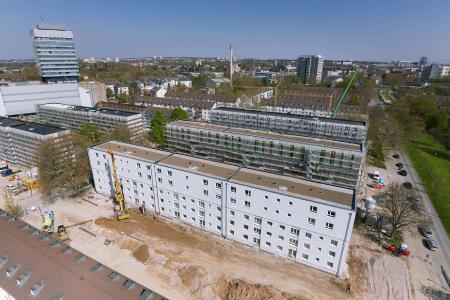 Nachverdichtung ist eine zukunftsfähige Lösung für die Entlastung der angespannten Wohnungsmärkte. Quelle: Liwood/Skycamera
