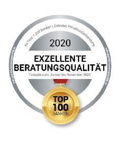 """Auszeichnung für die """"Top 100-Banken"""""""