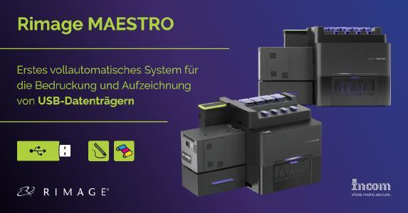 Rimage stellt mit Maestro das erste USB-Produktionssystem vor