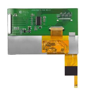 Evervision new Industrial full color 5.0 inch 800x480 TFT LCD display now with LVDS Interface