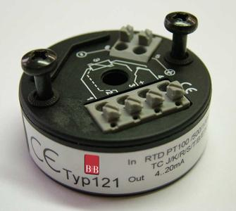 Programable digitale head Transmitter Typ 121 for temperature sensors with head type B