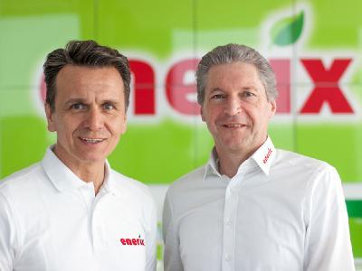 "Die ""enerix"" Gründer Stefan Jakob (rechts) und Peter Knuth (links)"