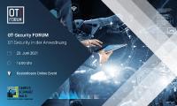Das OT-Security Forum findet am 23. Juni um 15:00 Uhr online statt. Den Link erhalten Sie nach erfolgreicher Anmeldung.