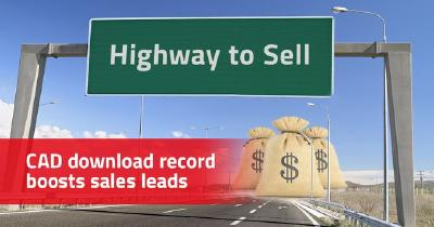 """Download record: """"Highway to Sell"""" for component manufacturers with over 56 million CAD downloads (= sales leads) in June"""
