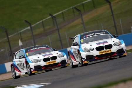 Colin Turkington, Rob Collard, BMW 125i M Sport, BTCC, Donington Park