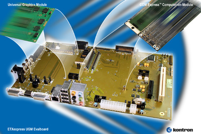 Kontron evaluation board for COM Express™ and UGM modules