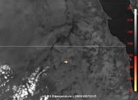 Meteosat-8 Rapid Scan captures asteroid impact