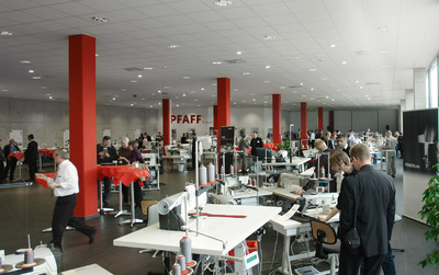 State-of-the-art showroom with approx. 100 sewing and welding solutions at the premises of PFAFF in Kaiserslautern