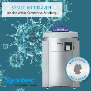 Coronavirus Forschung Sterilisation Systec Autoklaven