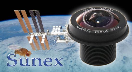 Sunex Lens goes ISS in the Fruit Fly Lab