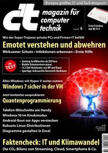 c't 06/20 Titelblatt