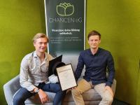 Florian Kollewijn (li.) und Olaf Lampson (re.), (c) CHANCEN eG, die beiden Gründer und Vorstand der CHANCEN eg, die für faire Bildungsfinanzierung angetreten ist.