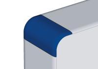 Mehr Farbe im Spiel: Die profiPANEL Gehäuse werden standardgemäß mit lichtgrauen Ecken ausgeliefert. Zur Abstimmung auf die Farbwelt im einsetzenden Betrieb sind die Ecken aber auch in Rot, Blau oder Tiefschwarz erhältlich, Bild: ROLEC Gehäuse-Systeme GmbH