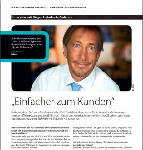 Wie unterstützt CADENAS bei Industrie 4.0? Jürgen Heimbach antwortet in der aktuellen ke-next Ausgabe