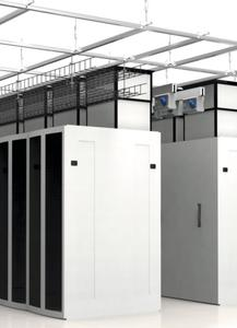 The design of the structural suspended ceiling solution allows for the hanging of various services such as busbar, lighting, cable trays, and security cages in the data centre.