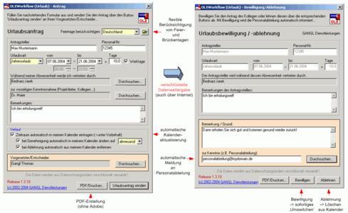 Perfektes Urlaubsmanagement für Outlook© und Exchange©