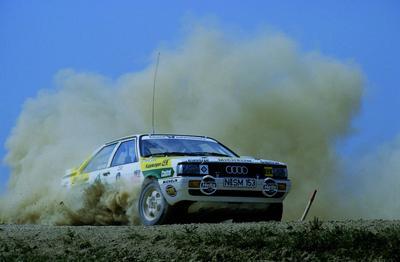 Armin Schwarz und sein Audi Coupe quattro 1987