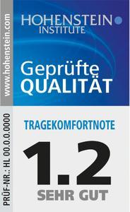 Das Hohenstein Qualitätslabel ermöglicht die Auslobung bestimmter Produkteigenschaften wie der Tragekomfortnote