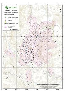 Figure 1: Drill Collar Location Map for Drill Holes at El Domo