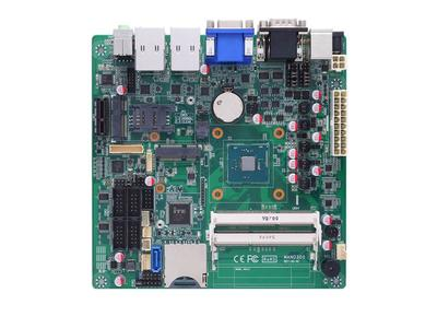 Axiomtek's MANO300 Intel® Celeron® Processor N3150 SoC Mini-ITX Motherboard with VGA/HDMI/LVDS, USB 3.0, PCI Express Mini Card, mSATA, PCIe x1, and HD