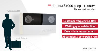 Intenta S1000 people counter: Der neue 3D Vision Sensor für Shopanalysen
