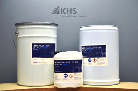 Some of the world's biggest manufacturers of lubricants and adhesives produce consumables under contract for KHS according to certain specifications.