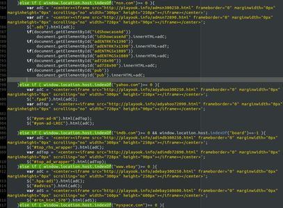 Code des Java Scripts