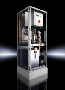 Auf der AMB 2010 stellt Rittal auf dem Gemeinschaftsstand der PTW erstmals seine neue Rückkühler-Baureihe TopTherm Chiller mit Inverter-Technologie vor