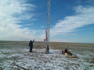 erecting meteo tower in russia