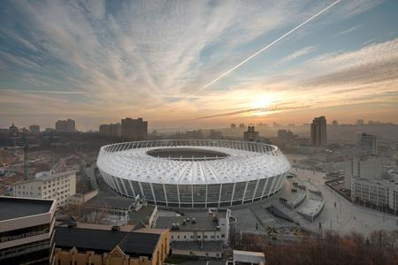 The Olympic stadium in Kiev with a spoke-wheel roof construction © Marcus Bredt